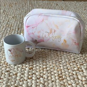 WIFEY Bride Large Cosmetic Bag & Mug NEW